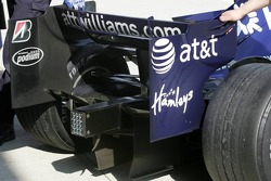 Rear wing of the Williams FW29 of Alexander Wurz
