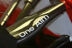 One aim sticker on the suspension of the Toyota TF 107