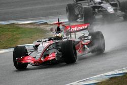 Pedro de la Rosa and Marco Andretti