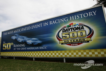 Ad and logo for the 50th running of the Daytona 500 that will be raced in 2008
