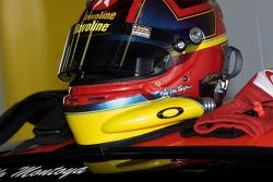 Juan Pablo Montoya's helmet