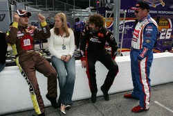 David Gilliland with wife Michelle, Boris Said and Ken Schrader
