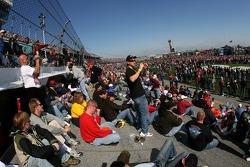 Fans enjoy the track at Daytona