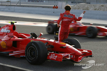 Felipe Massa, Scuderia Ferrari, after stopping on the circuit