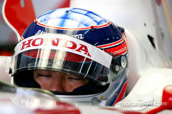 Takuma Sato, Super Aguri F1, rests his eyes