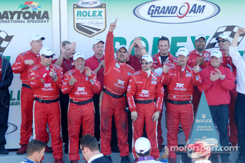 Victory celebration for #01 TELMEX Chip Ganassi with Felix Sabates team