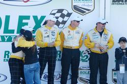 GT Podium: Winners Carlos de Quesada, Jean-François Dumoulin, Scooter Gabel, Marc Basseng
