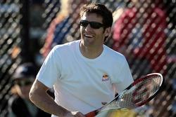 Formula One drivers charity tennis match: Mark Webber, Red Bull Racing