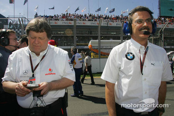 Dr. Mario Theissen, BMW Sauber F1 Team, BMW Motorsport Director and Norbert Haug, Mercedes, Motorsport chief