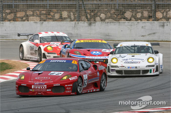 #63 Scuderia Ecosse Ferrari 430 GT2: Tim Mullen, Tomas Enge