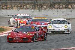 #63 Scuderia Ecosse Ferrari 430 GT2: Tim Mullen, Tomas Enge