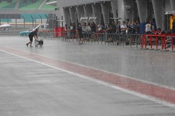 Heavy rain at Sepang Circuit