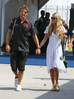 Jenson Button, Honda Racing F1 Team with Florence Brudenell-Bruce