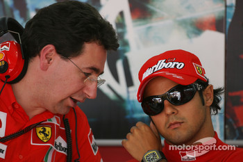 Mario Almondo, Scuderia Ferrari, Technical Director and Felipe Massa, Scuderia Ferrari