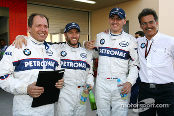 Nick Heidfeld, BMW Sauber F1 Team, Robert Kubica,  BMW Sauber F1 Team, Dr. Mario Theissen, BMW Sauber F1 Team, BMW Motorsport Director, Willy Rampf, BMW Sauber F1 Team, Chassis Technical Director
