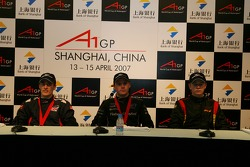 Press conference with Robbie Kerr, Driver of A1Team Great Britain, Jonny Reid, Driver of A1Team New Zealand and Nico Hulkenberg, Driver of A1Team Germany
