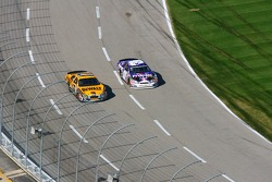 Matt Kenseth and Jeff Burton battle for the lead