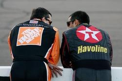 Tony Stewart and Juan Pablo Montoya