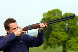Robbie Kerr, Driver of A1Team Great Britain with a shot gun