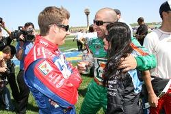 Marco Andretti, Tony Kanaan and Danica Patrick