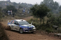 Claudiu David and Mihaela Beldie, OMV BIXXOL Rally Team Mitsubishi Lancer