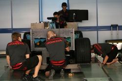Honda F1 Racing, in scrutineering