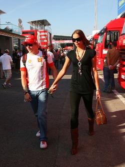 Kimi Raikkonen, Scuderia Ferrari and Jennie Raikkonen, Wife of Kimi Raikkonen
