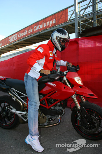 Michael Schumacher, Scuderia Ferrari, Advisor leaves the track on a Ducati
