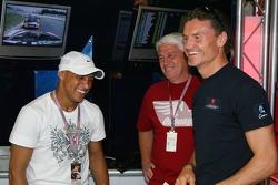 Roberto Carlos, Real Madrid, Football Player and David Coulthard, Red Bull Racing