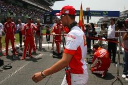 Michael Schumacher, Scuderia Ferrari, Advisor, on the grid