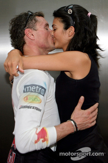 David Coulthard, Red Bull Racing and his girlfriend Karen Minier