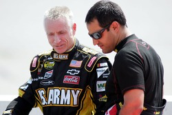 Mark Martin talks with Juan Pablo Montoya