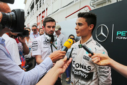 Pascal Wehrlein, Mercedes AMG F1 Reserve Driver with the media