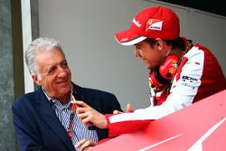 (L to R): Piero Ferrari, Ferrari Vice-President with Esteban Gutierrez, Ferrari Test and Reserve Driver