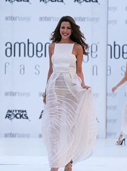 Tamara Boullier, wife of Eric Boullier, McLaren Racing Director, at the Amber Lounge Fashion Show