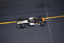 Sergio Perez, Sahara Force India F1 VJM08, zorgt voor vonken