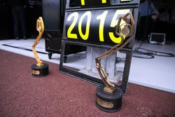 Nico Rosberg, Mercedes AMG F1 - race winner's trophies