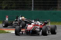 Felix Rosenqvist, Prema Powerteam Dallara Mercedes-Benz and Charles Leclerc, Van Amersfoort Racing Dallara Volkswagen