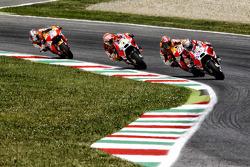Andrea Dovizioso, Ducati Team and Marc Marquez, Repsol Honda and Andrea Iannone, Ducati Team and Dani Pedrosa, Repsol Honda Team