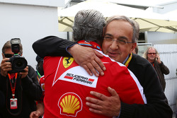 毛里齐奥•阿里瓦贝内, Ferrari Team Principal with 塞尔吉奥•马奇奥内, Ferrari President and CEO of Fiat Chrysler Automobiles