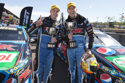 Race winner Chaz Mostert, Prodrive Racing Australia Ford with teammate Mark Winterbottom