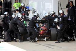 Fernando Alonso, McLaren Honda during pitstop