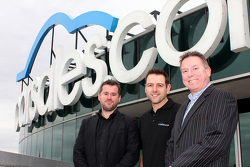 Carsales Director  Chris Polites, Nissan Motorsport owner/driver Todd Kelly and Carsales Managing Director and CEO Greg Roebuck.