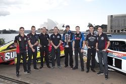 V8 Supercars drivers Tim Slade, Scott McLaughlin, Will Davison, Craig Lowndes, Chaz Mostert, Mark Winterbottom, Rick Kelly and Jamie Whincup