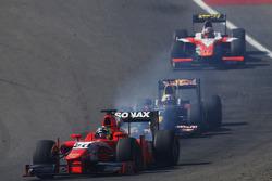 André Negrao, Arden International leads Pierre Gasly, DAMS and Daniel de Jong, MP Motorsport