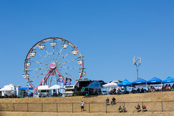 Fans and the ferris wheel at Sonoma