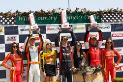 GT Winners Podium: Race winner #31 EFFORT Racing Porsche 911 GT3 R: Renger van der Zande, second place #9 K-Pax Racing McLaren 650S GT3: Kevin Estre and third place#61 R. Ferri Motorsport Ferrari 458 GT3 Italia: Olivier Beretta