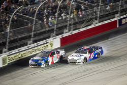 Landon Cassill, Hillman Circle Sport LLC Chevrolet and Trevor Bayne, Roush Fenway Racing Ford