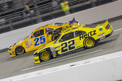 John wes Townley, Athenian Motorsports Chevrolet and Joey Logano, Team Penske Ford