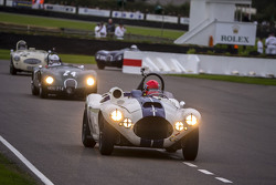 Ludovic Lindsay and Ben Shuckburgh, Cunningham C4R 1953 and Andy Wallace with Nigel Webb, Jaguar C-type 1952